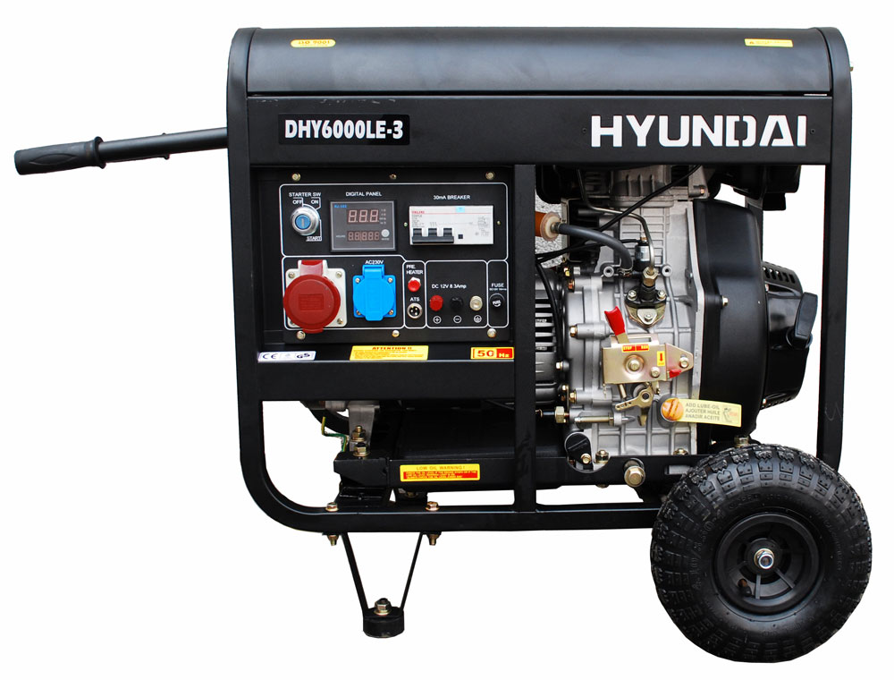 портативная дизельная электростанция hyundai dhy6000le-3 (380в)