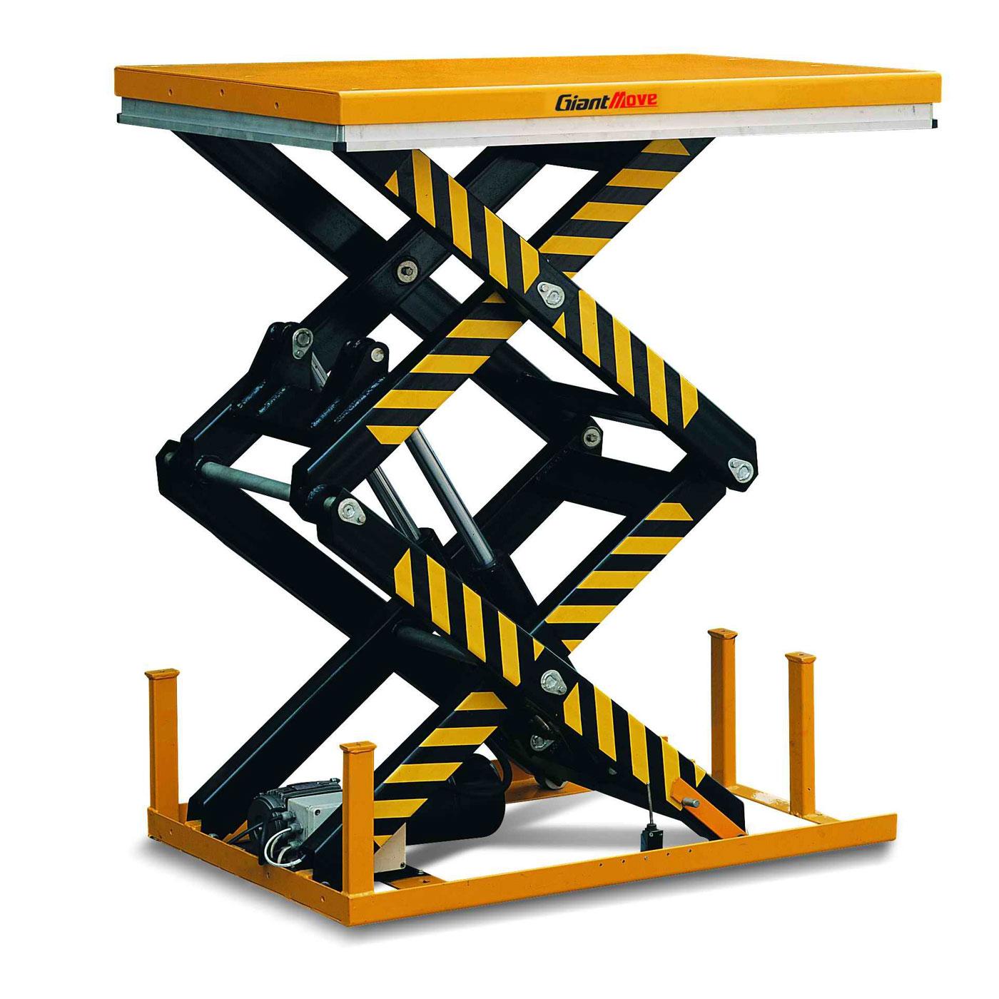 гидравлический подъемный стол с двойными ножницами gaint move