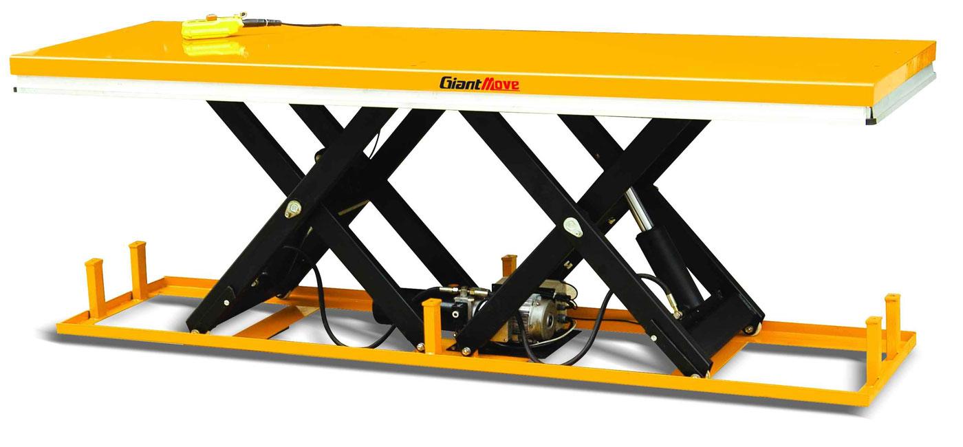 двухножничный стационарный гидравлический подъемный стол gaint move