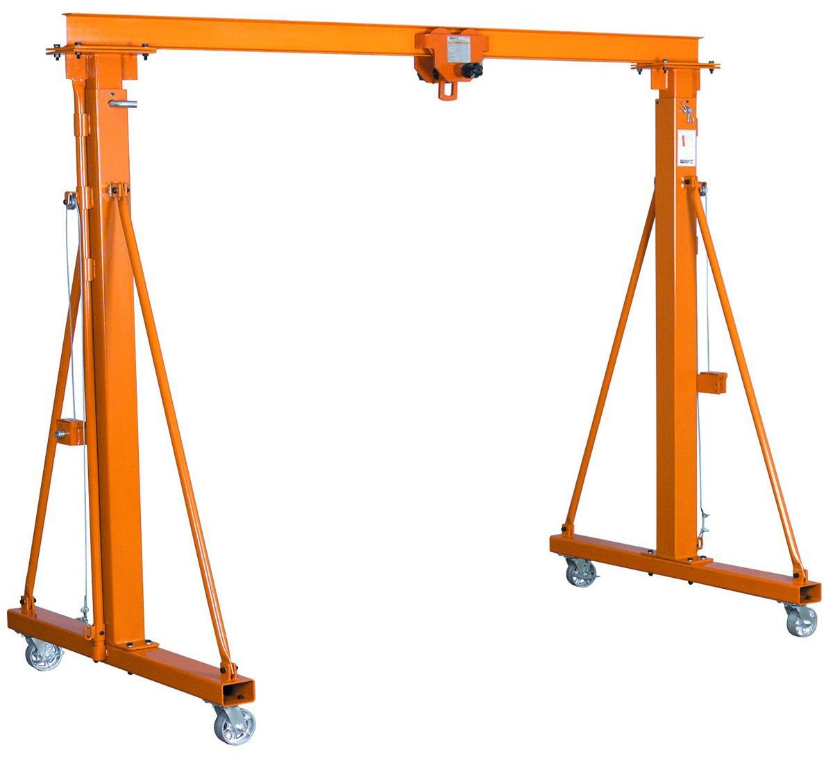 легкий колёсный разборный козловой кран для работы с ручной или электрической талью