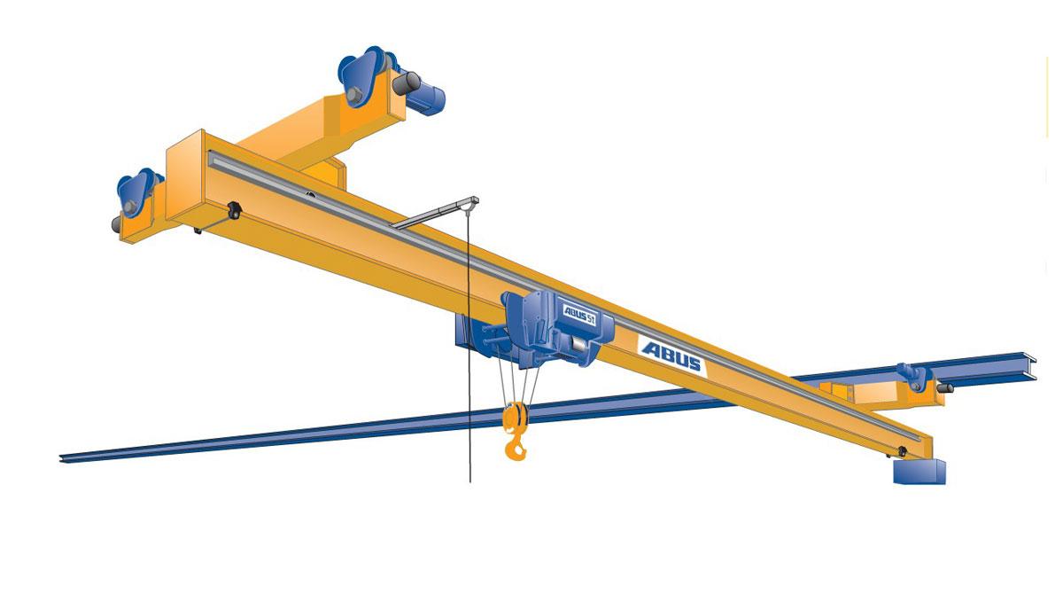 кран мостовой однобалочный электрический подвесной abus