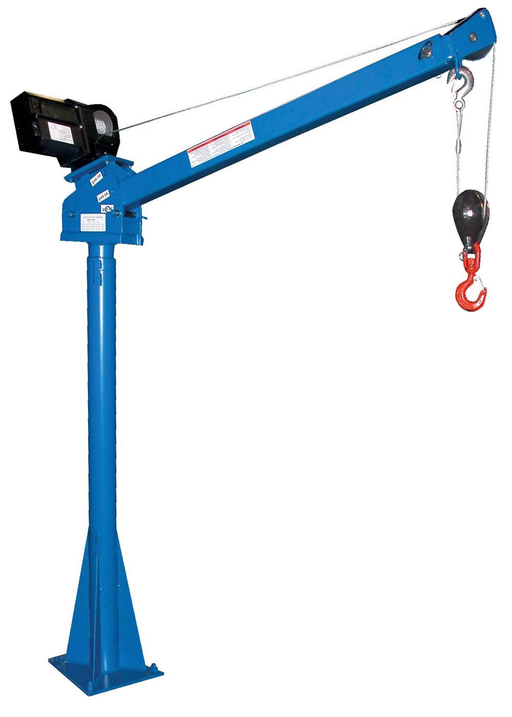стационарный консольный кран с электрической лебедкой