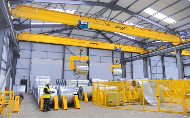 краны мостовые электрические однобалочные опорные demag в металлургическом производстве