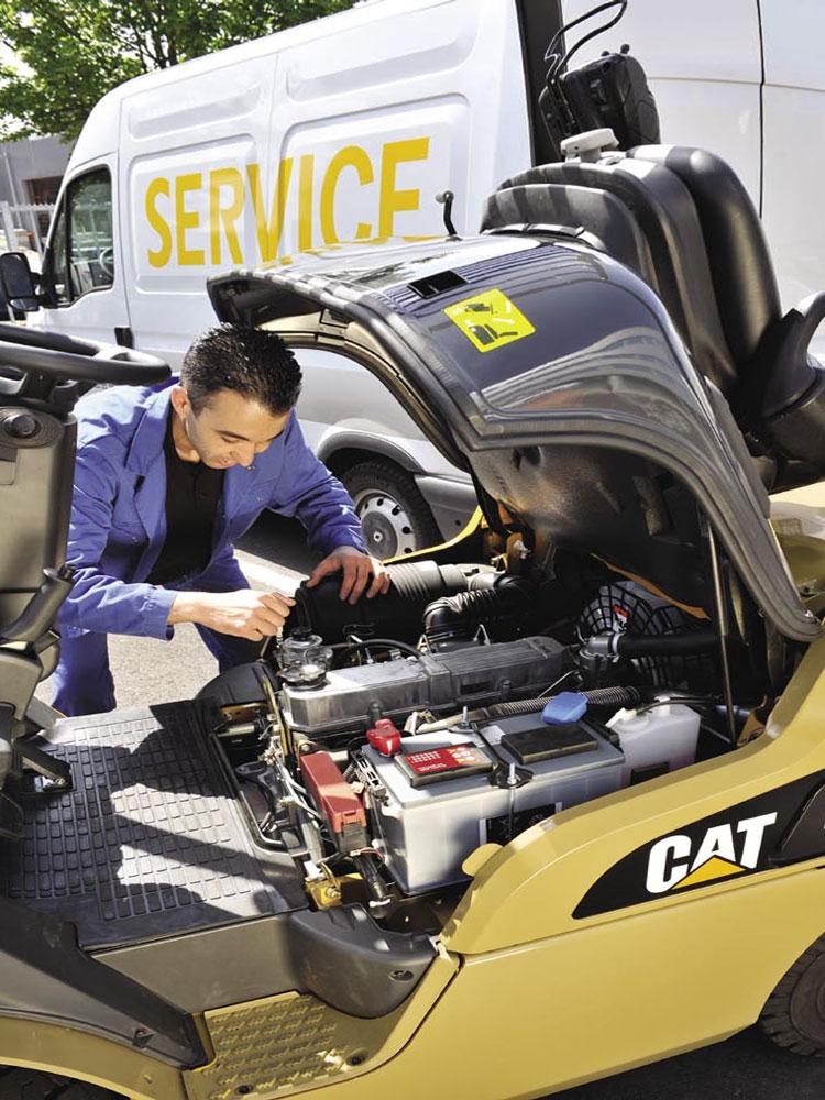 сервисное обслуживание двигателя CAT