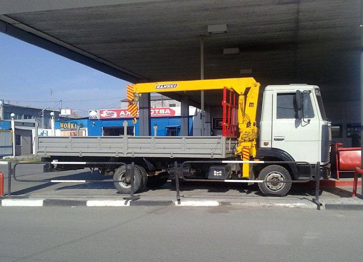 бортовой автомобиль МАЗ 4370 с КМУ