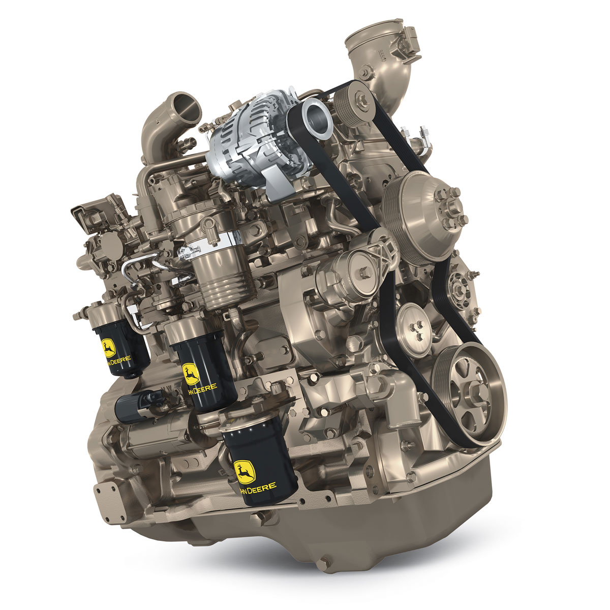 двигатель от фронтального погрузчика John Deere