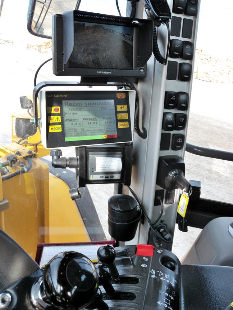 блок управления и навигации погрузчика Volvo