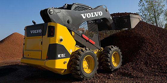 фронтальный мини погрузчик Volvo MC110C