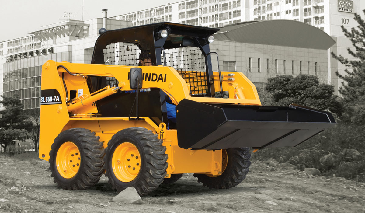 мини погрузчик Hyundai HSL650 7 колесный ковшовый
