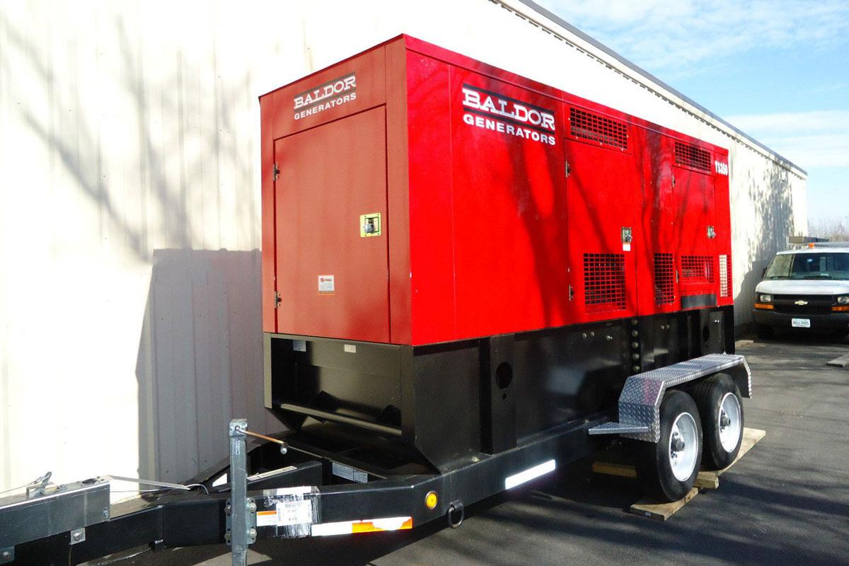 буксируемый 3-х фазный генератор на солярке