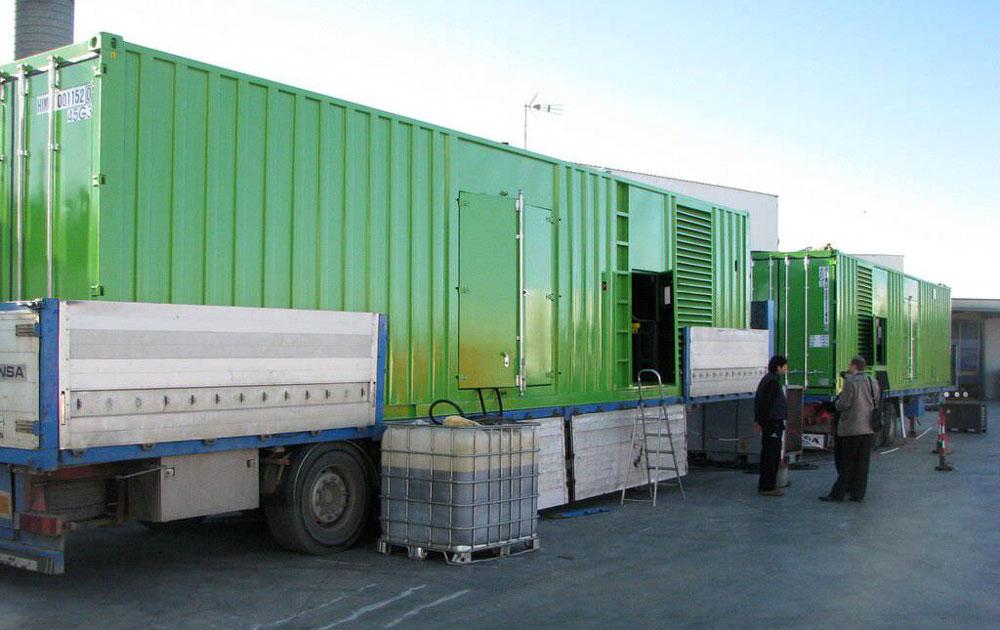 подключенные контейнерные генераторы