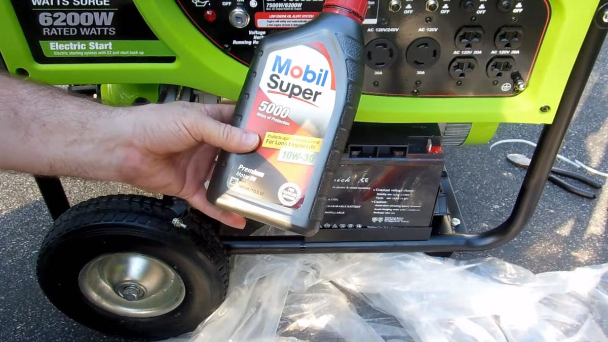 масло для генератора
