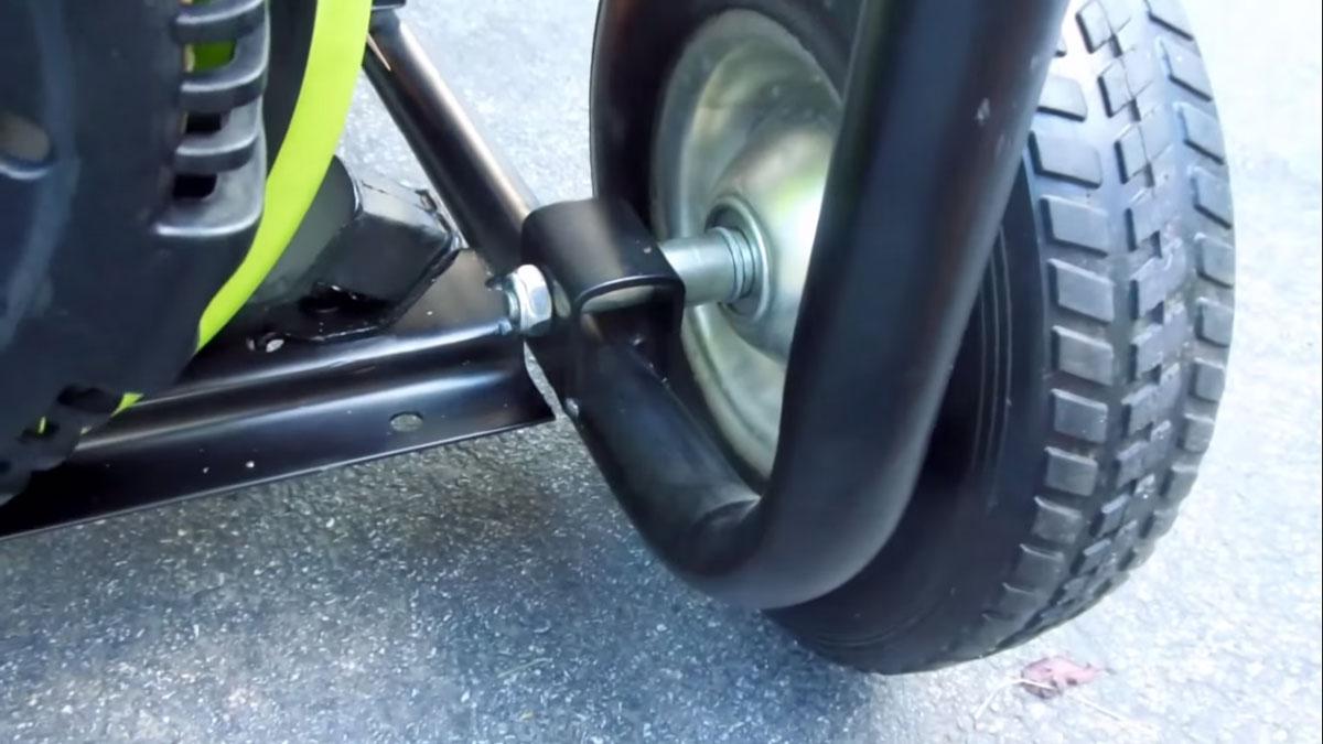 крепление колеса к раме генератора