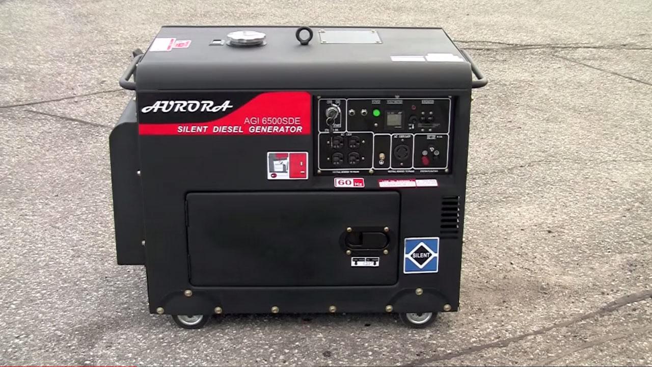 малошумный дизель-генератор в кожухе