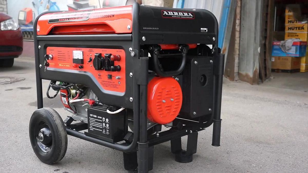 бензогенератор на колесах