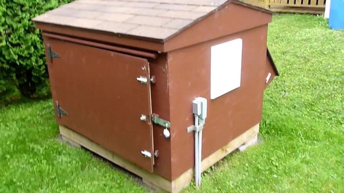 место установки генератора на участке