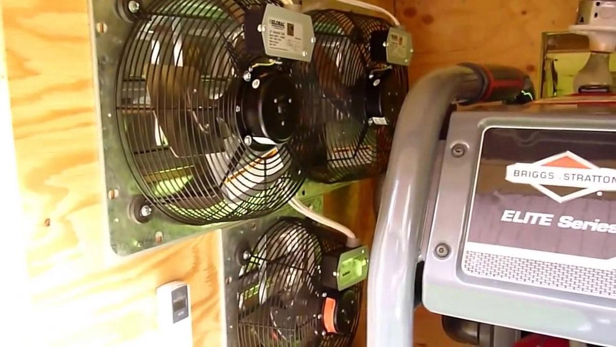 охлаждение помещения генератора
