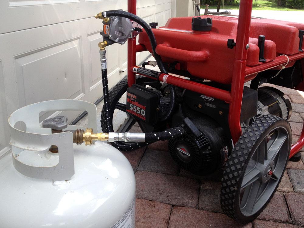 генератор переведенный на газ