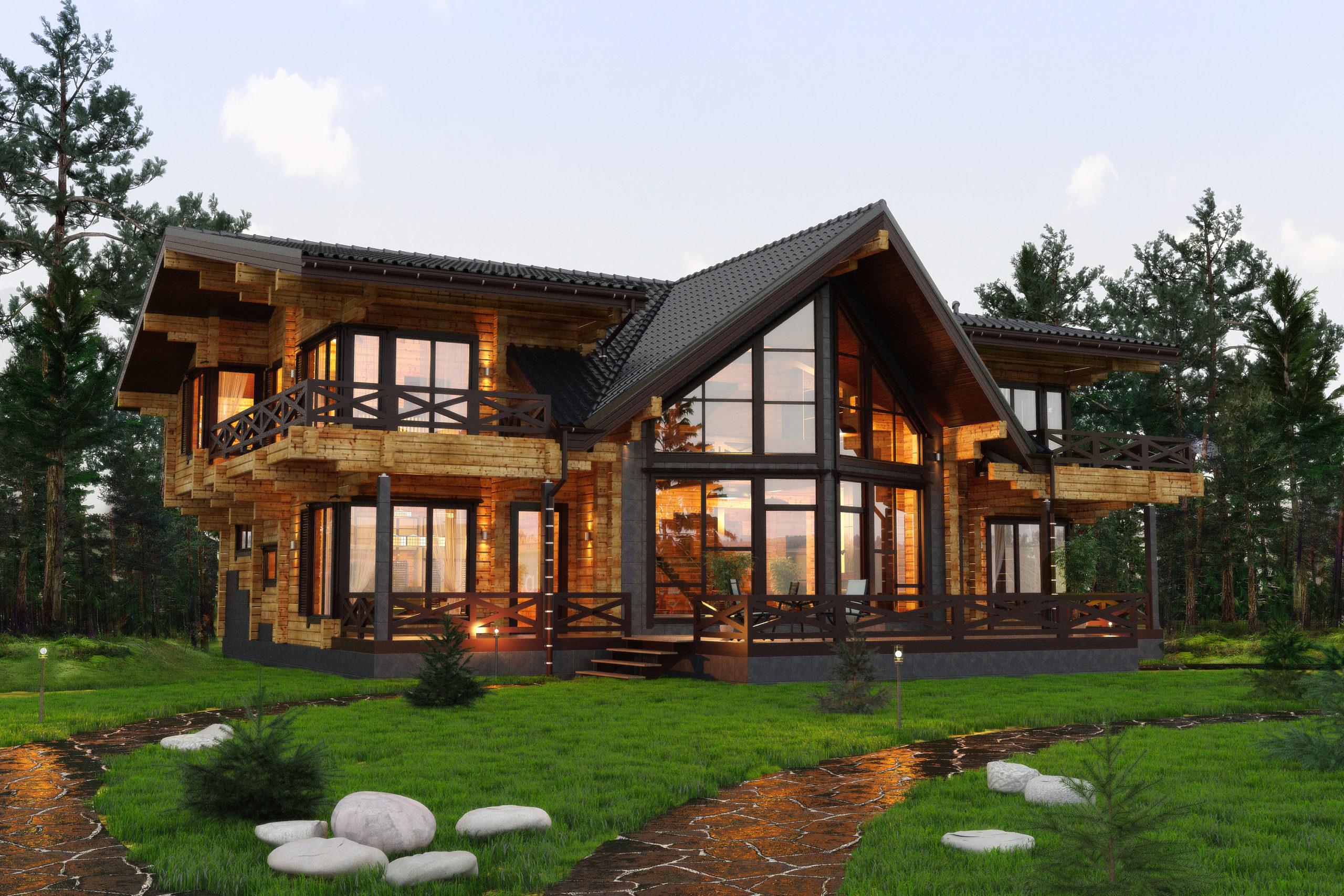Какие дома из дерева строят сегодня