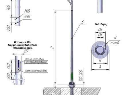 Этапы производства опор уличного освещения