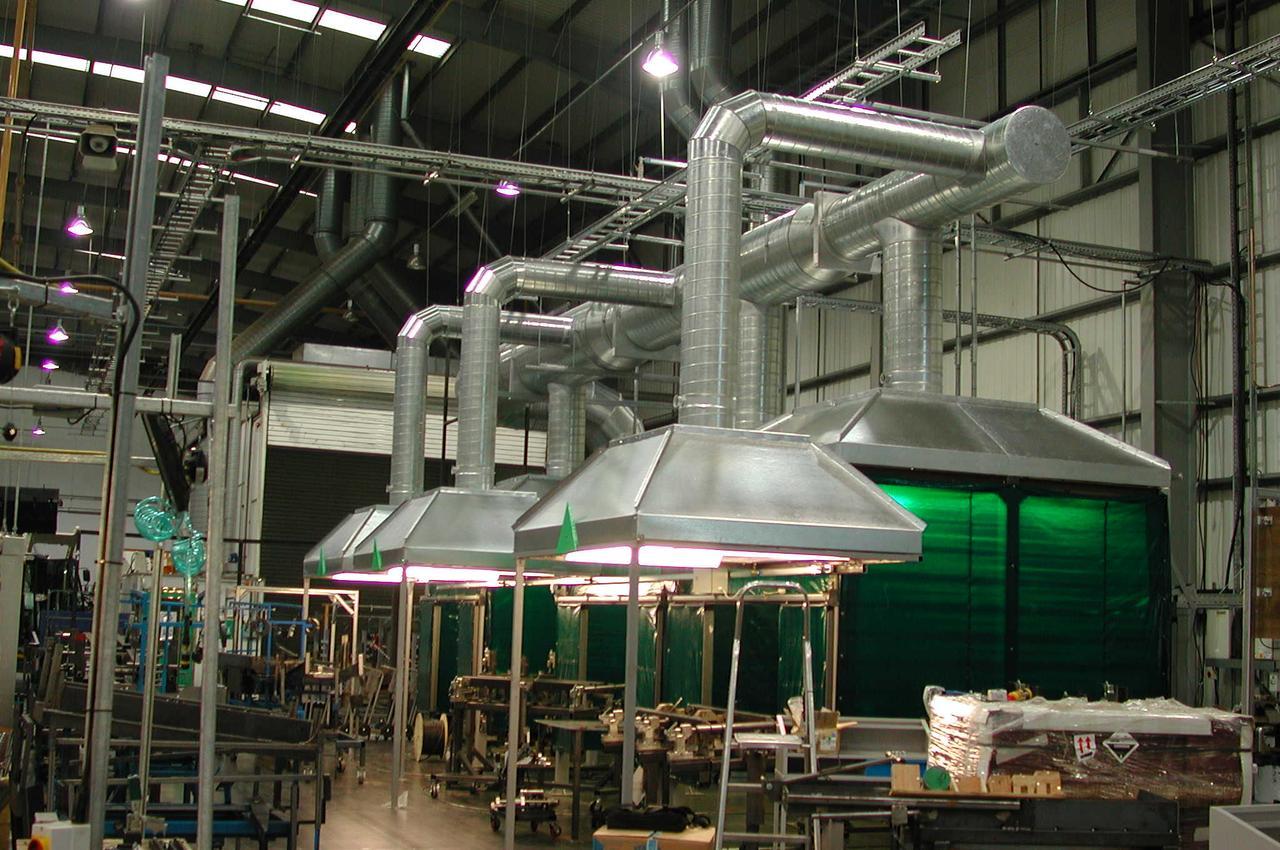 Вентиляция воздуха помещений на производстве