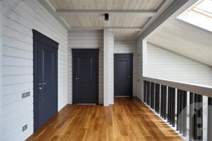 дверь в черной эмали