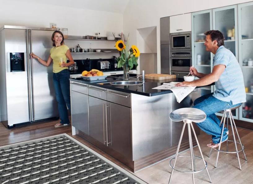 Как сделать теплый пол на кухне своими руками
