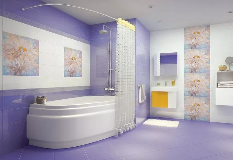 Как выбрать плитку для ванной комнаты и туалета